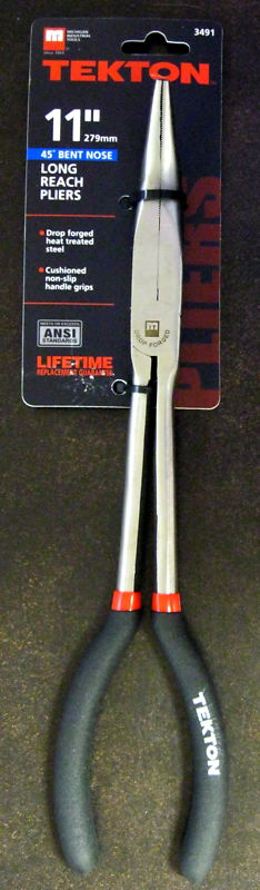 """New MIT 11"""" Extra Long 45 Degree Bent Nose Pliers #3491"""