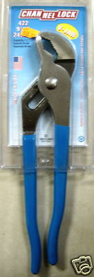 """New ChannelLock 9-1/2"""" V-Jaw Tongue & Groove Pliers #422"""