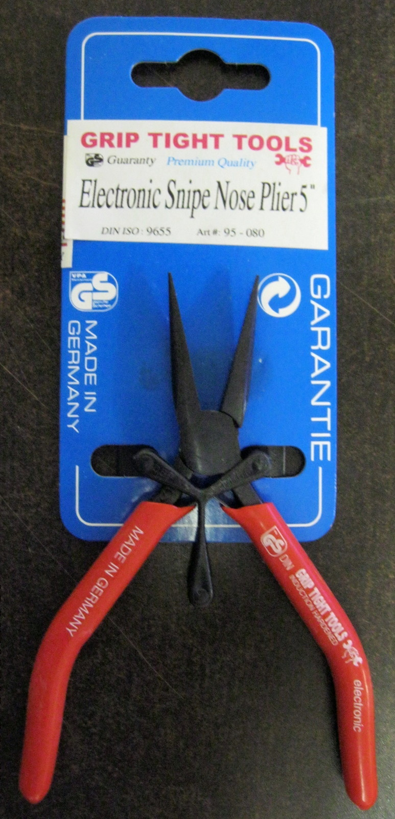 """New Grip Tight Tools 5"""" Electronic Snipe Nose Mini Plier #95-080"""