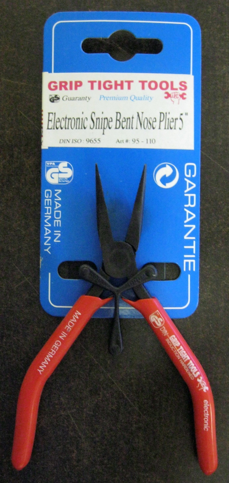 """New Grip Tight Tools 5"""" Electronic Snipe Bent Nose Mini Plier #95-110"""