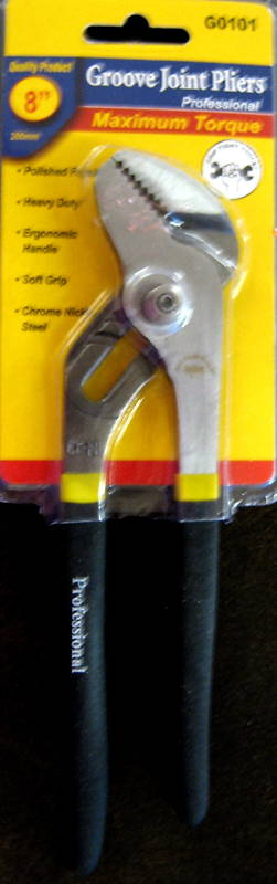"""New Grip Tight Tools 8"""" Groove Joint Pliers #G0101"""